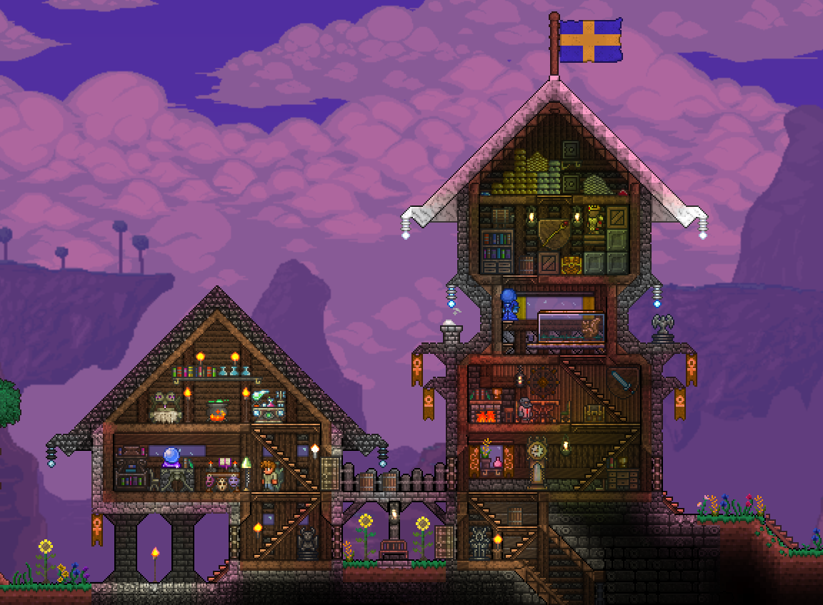 Elegant Small Terraria Houses