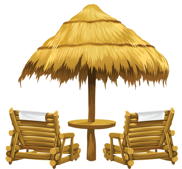Transparent Tiki Beach Umbrella And Chairs Png Clipart Beach Chairs Clipart Png Tiki Transparent Umbrella In 2020 Beach Clipart Clip Art Beach Lounge Chair