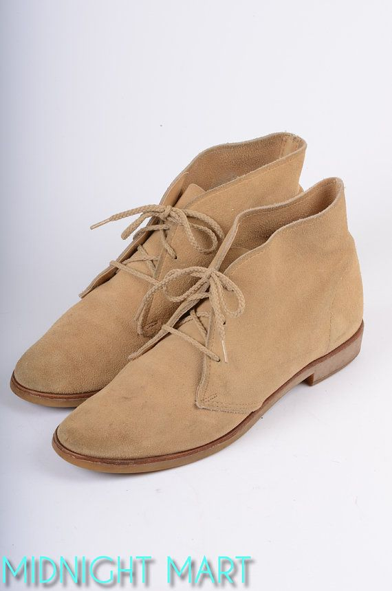 2310cbc3c32 1970s boots  70s suede desert boots  chukka boots. I had this color and  dark brown. I loved them.