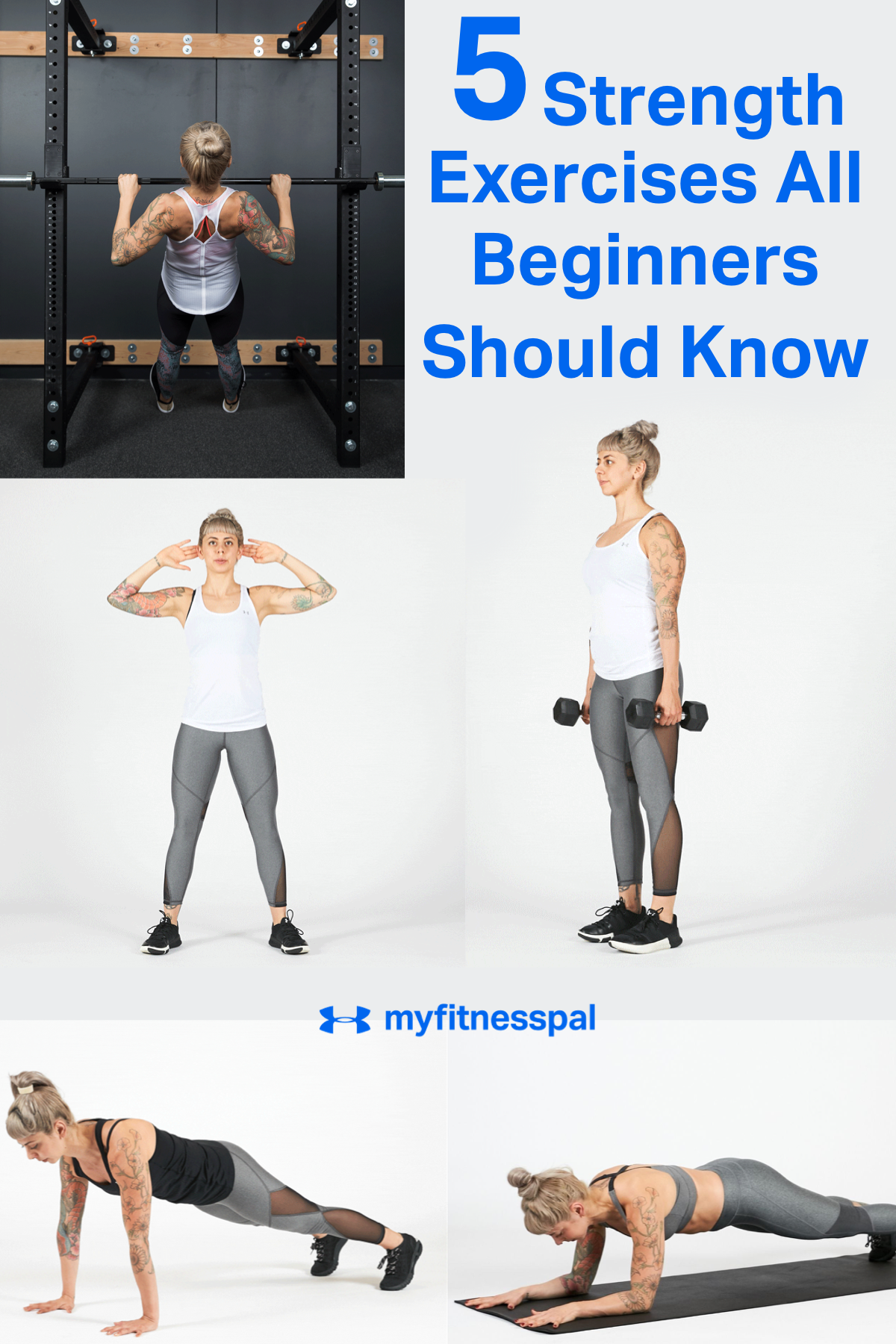 5 Strength Exercises All Beginners Should Know | Fitness | MyFitnessPal Strength training for begin
