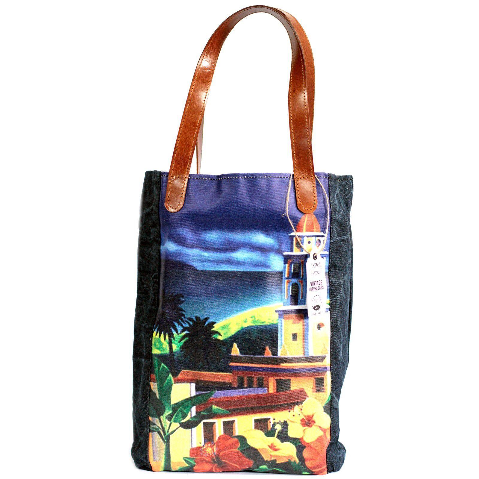 1582b7534d9b Details about Vintage Style Travel Bag - Tote Shoulder Shopping ...