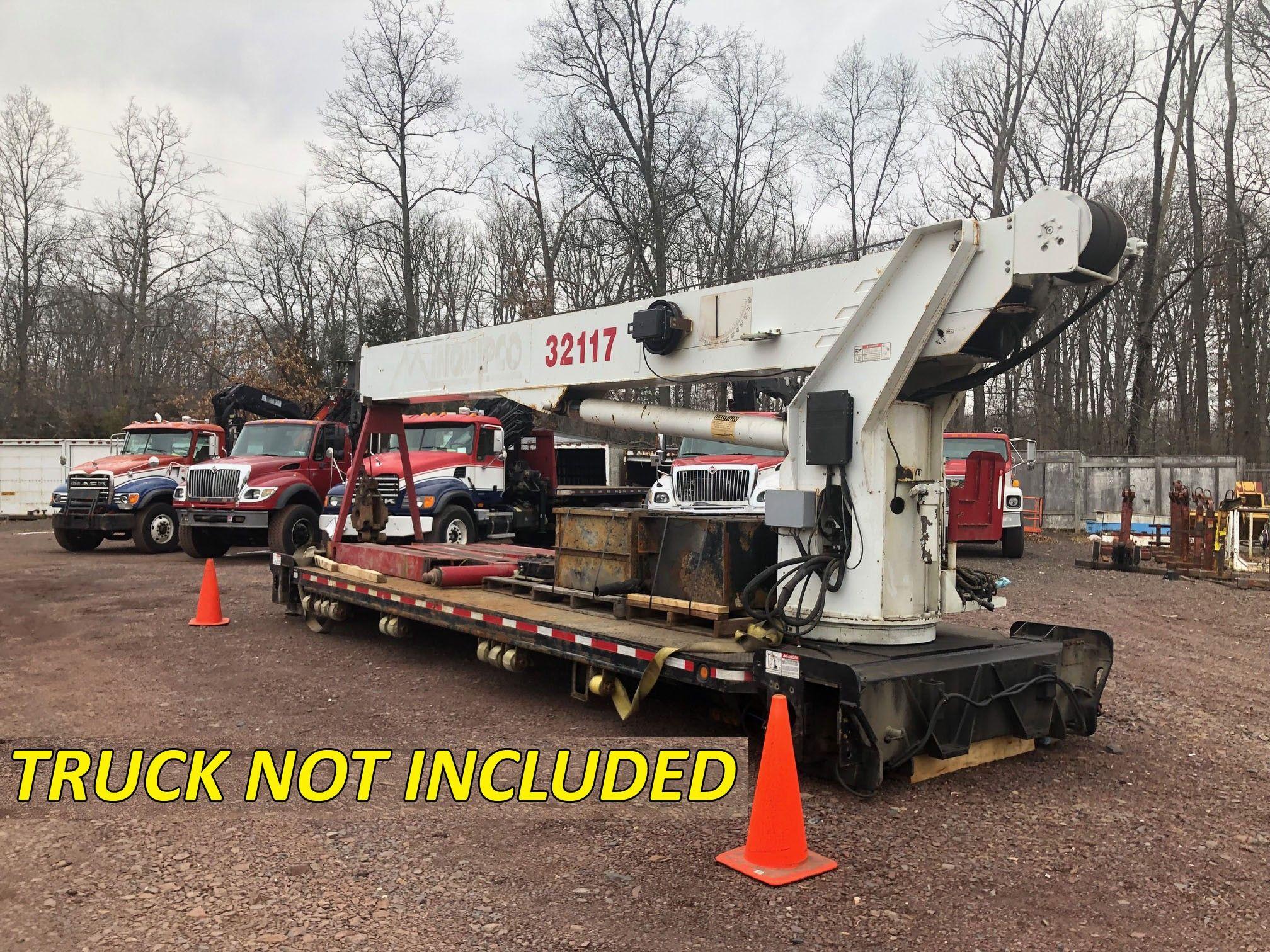 used 2007 elliott 32117f unmounted boom/crane truck: 32 ton in hatfield, pa