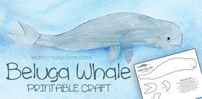 Printable Beluga Whale Craft Beluga Whale Beluga