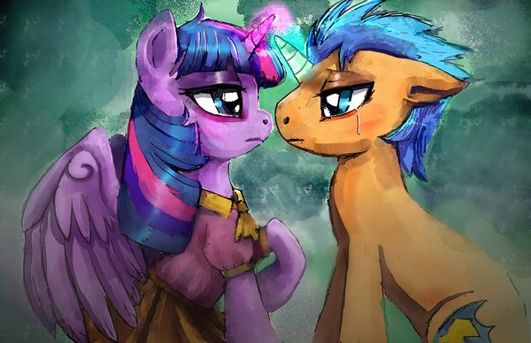 Twilight Sparkle and Flash Sentry are helpless by the ...