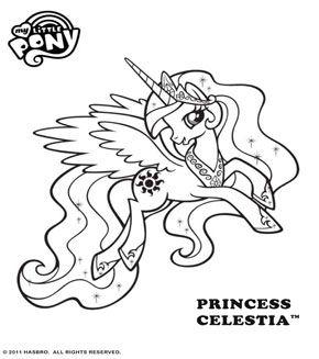 Princess Celestia Coloring Pages My Little Pony Coloring My Little Pony Printable My Little Pony Princess