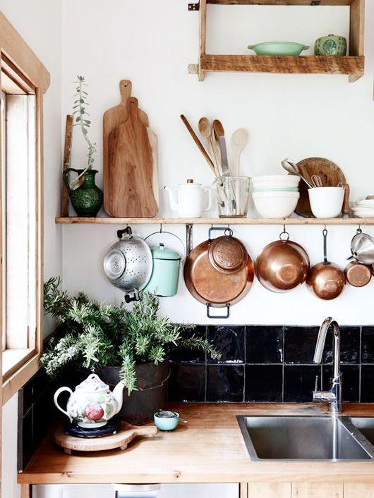 home inspiration: 10 KITCHEN SHELVING IDEAS #kitchensplashbacks