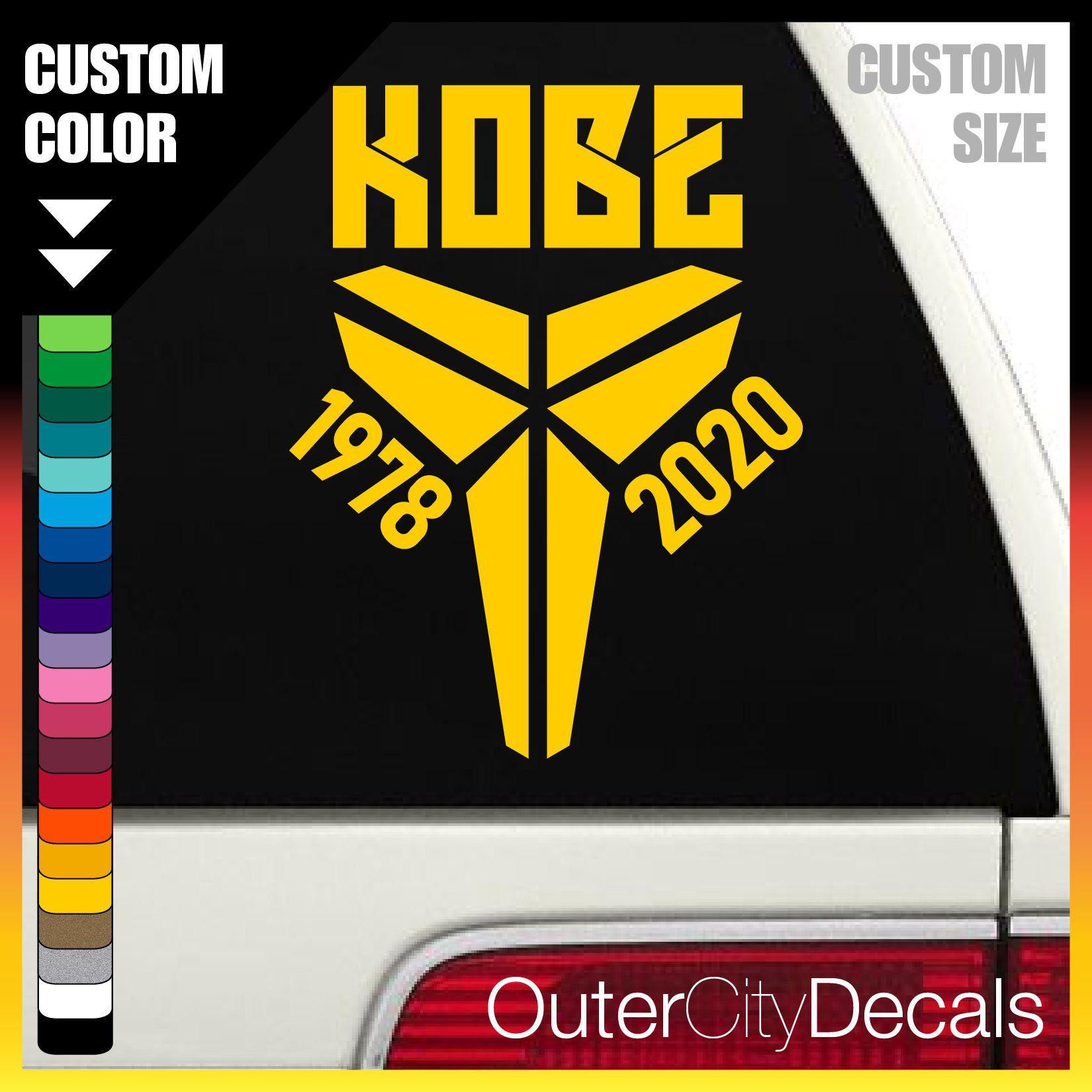 Excited To Share This Item From My Etsy Kobe Bryant Rip Custom Decal Vinyl Car Sticker Vinyl Sticker Ko Vinyl Car Stickers Custom Decals Stickers Custom [ 1650 x 1650 Pixel ]