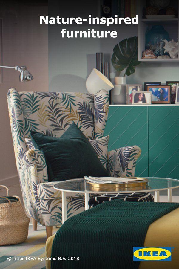 Strandmon Wing Chair Nordvalla Dark Gray In 2019 Living