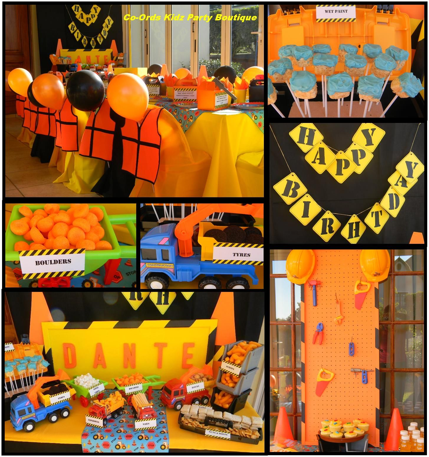 Construction Birthday Party Food Ideas: Construction Themed Kiddies Party & Candy Table By Co-Ords