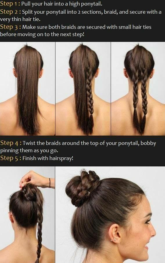 Braid Jura Hair Styles Thick Hair Styles Braided Bun Hairstyles