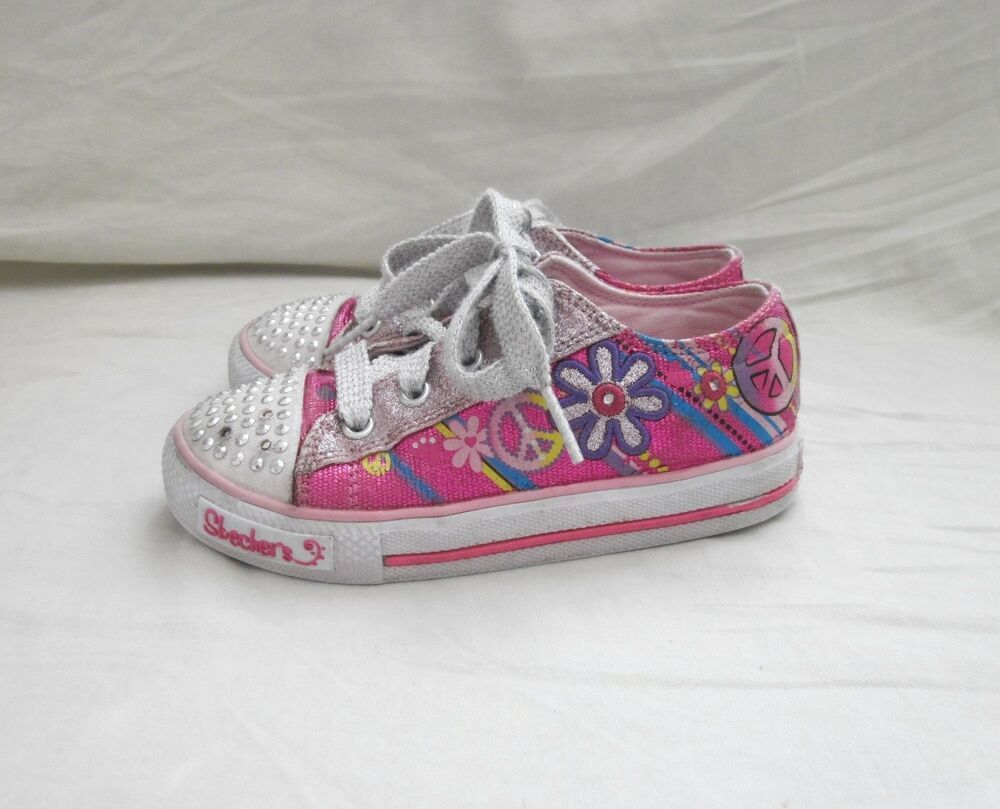Skechers Twinkle Toes Shoes Sneakers Multi Color Size 10m Fashion