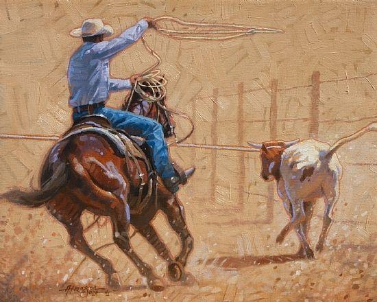 Texas Hold Em by Steve Atkinson Oil ~ 16 x 20