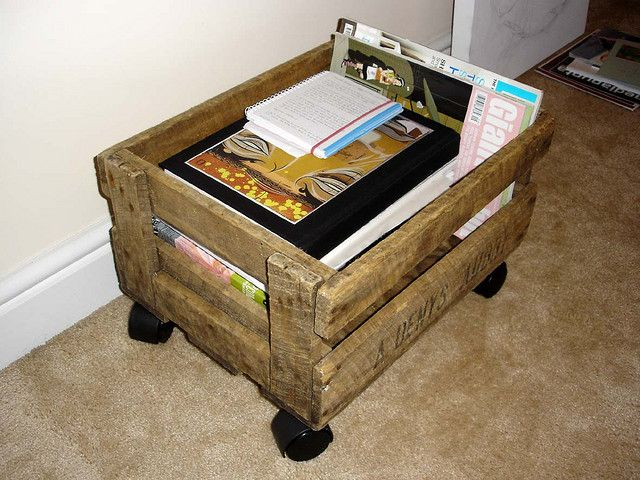 crate on casters by this chicken, via Flickr