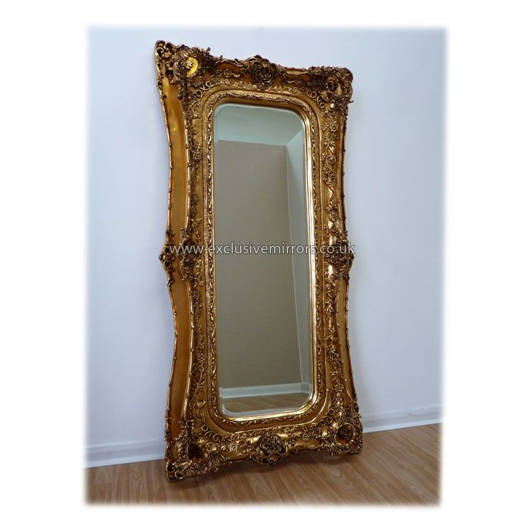 Full Length Gold Antique Style Mirror Full Length Mirrors