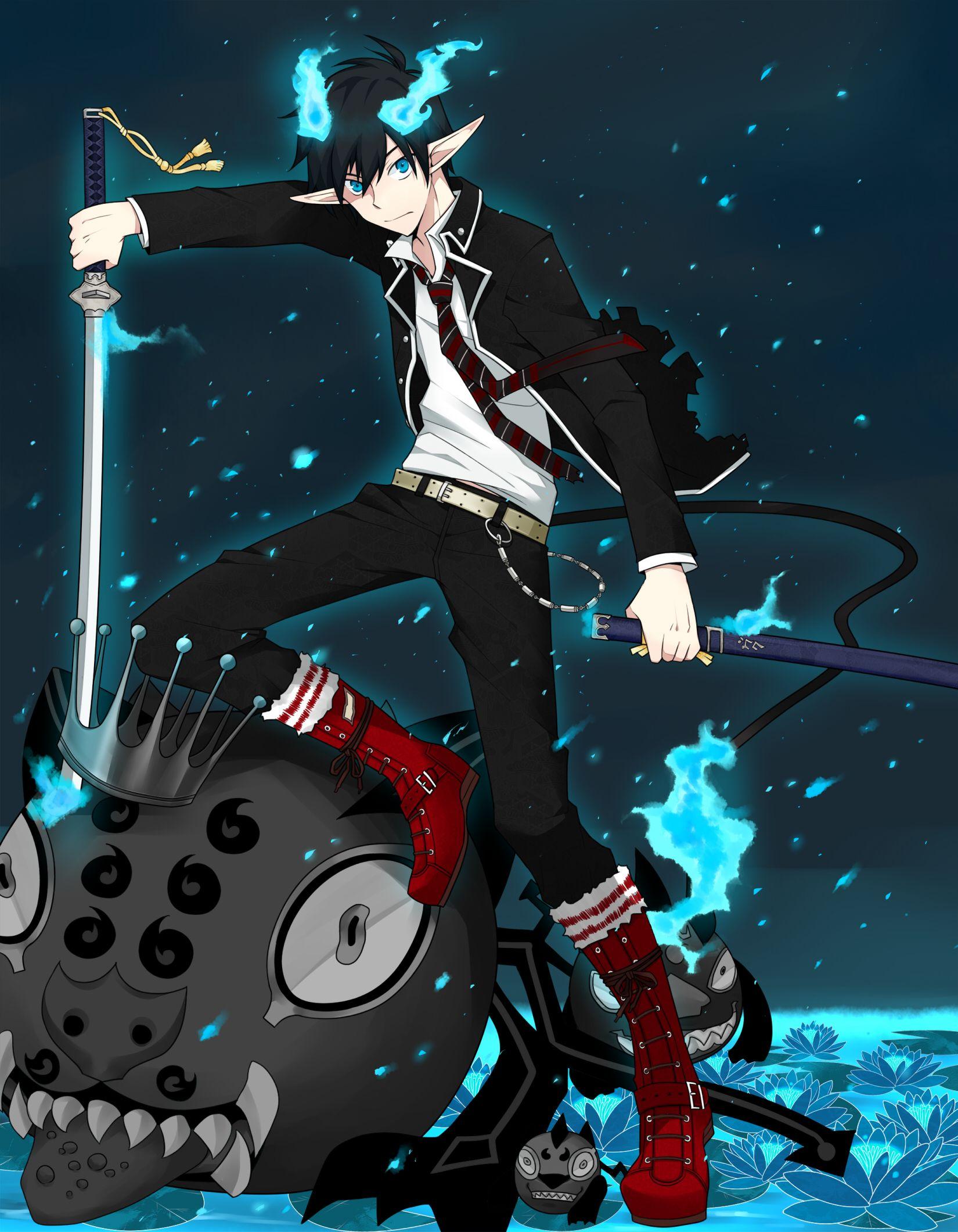 Chibi Okumura.Rin.   Blue exorcist anime, Blue exorcist