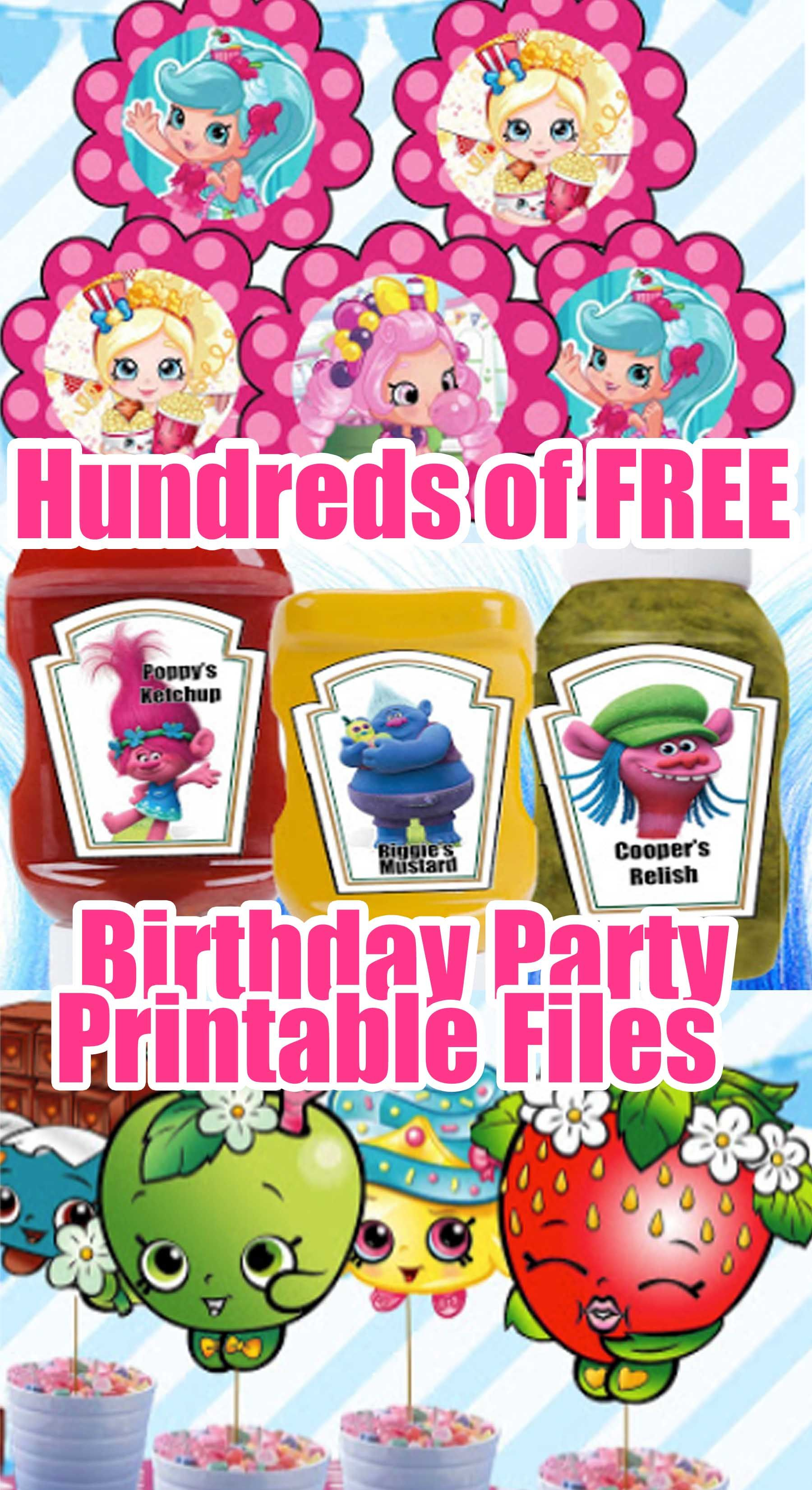 picture relating to Shopkins Birthday Card Printable referred to as 1000's of Free of charge Birthday Celebration Printable Documents Shopkins
