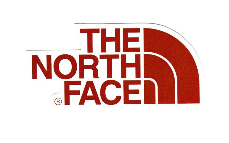1845 The North Face Red Logo 11x5 Cm Decal Sticker