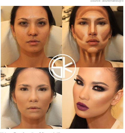 Contour Makeup Steps Amazing contouring tutorial | Contour Makeup ...
