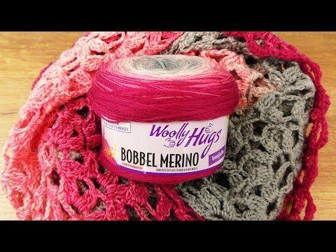 Tuch Traumtänzer Häkeln | Woolly Hugs Merino Booble | Wunderschönes Tuch im Lochmuster