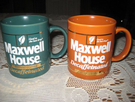 2 Vintage Maxwell House promotional mugs by VaccarosVintageFinds