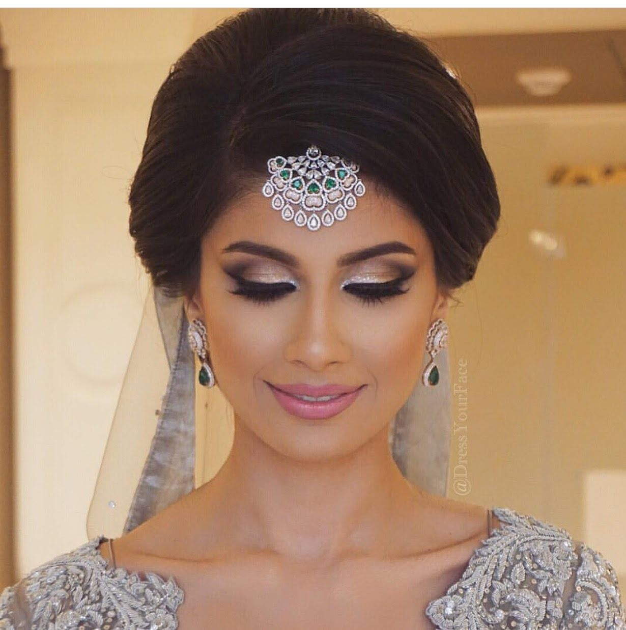 elegant indian bridal hairdos - google search | baby shower ideas