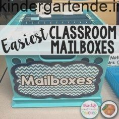 Easiest Classroom Mailboxes Ever (The Primary Peach)