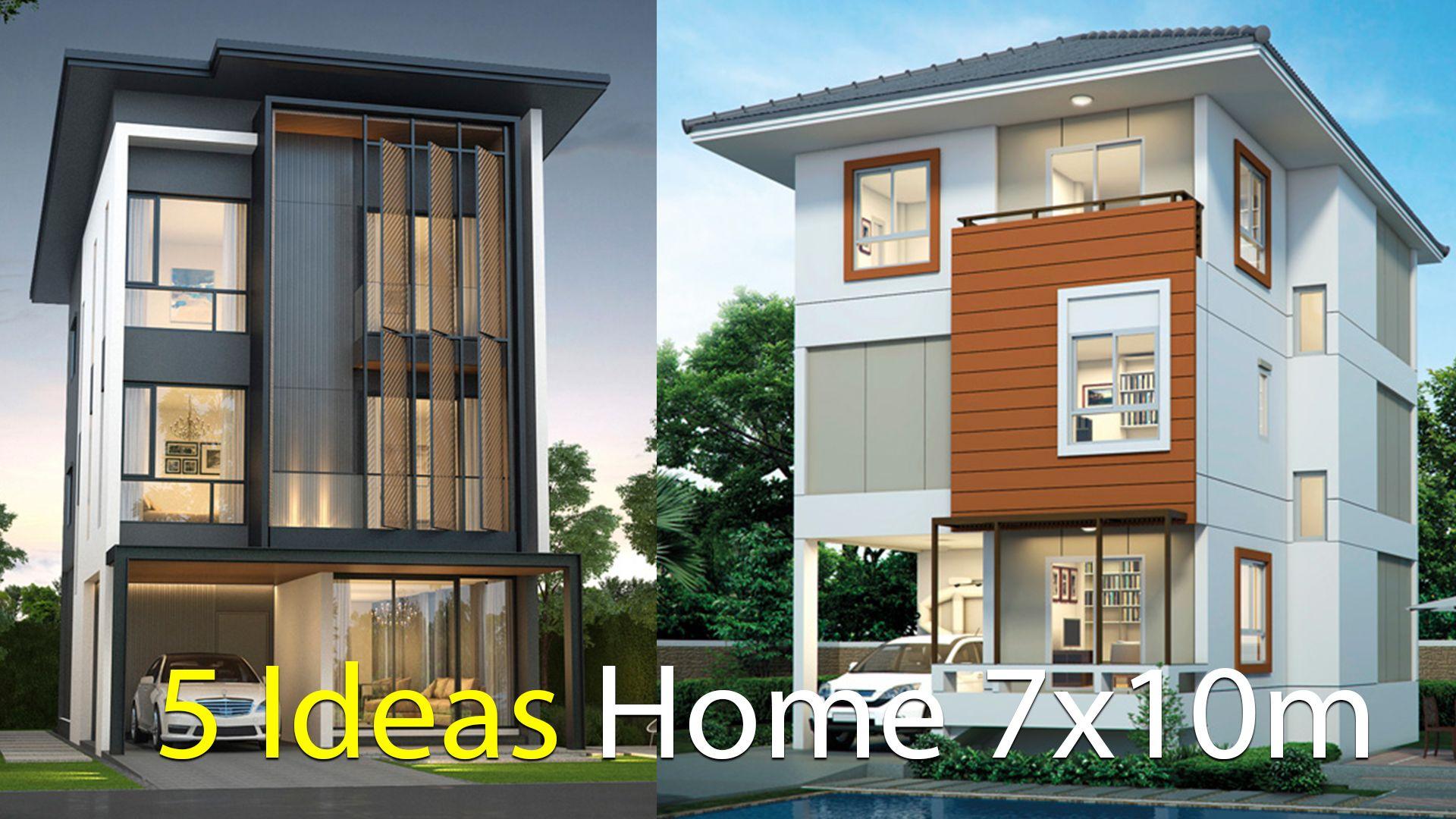 5 Ideas Home Design Plan 7x10m 1 House Design Plan 7x10 With 4 Bedrooms 2 Home Design Plan 7x10m With 4 Home Design Plan Duplex House Design House Floor Plans