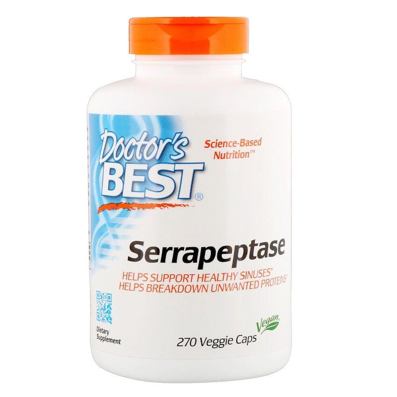 Doctor S Best Serrapeptase 40 000 Spu 270 Veggie Caps With