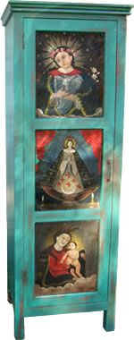 Hand Painted Cabinets Storage Furniture El Mercado