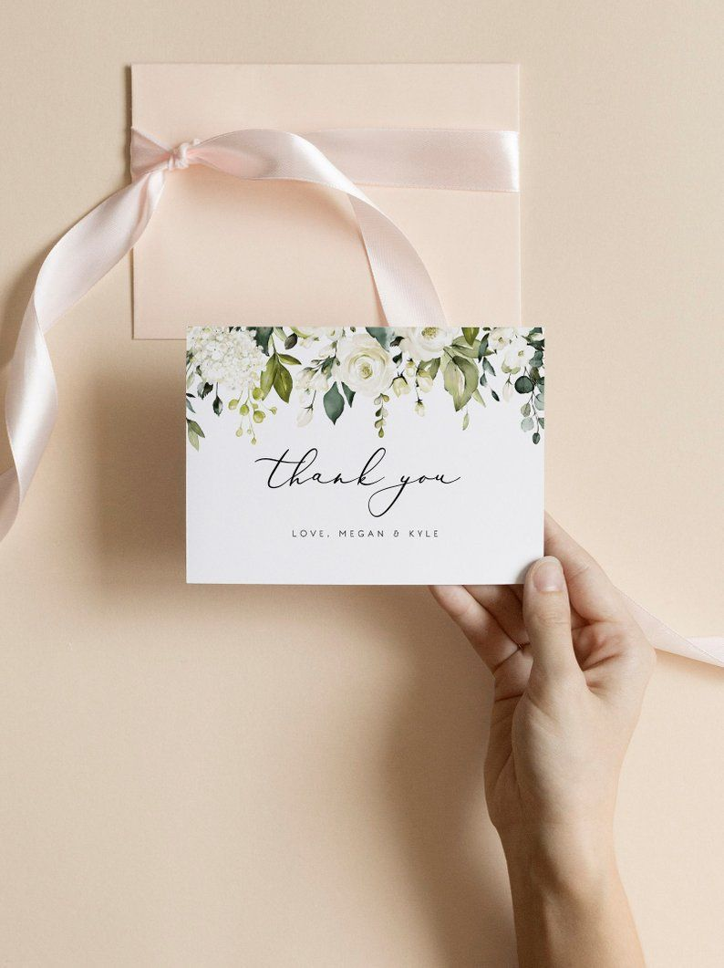 Wedding Thank You Cards Template Printable Thank You Card Etsy Thank You Card Template Wedding Thank You Cards Bridesmaid Cards