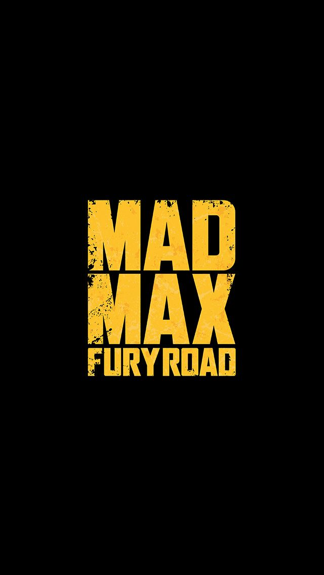 Tap And Get The Free App Movie Mad Max Fury Road Logo Cinema Holywood Poster Black Yellow Hd Iphone 5 Wallpaper Mad Max Fury Road Minimal Wallpaper Art Logo