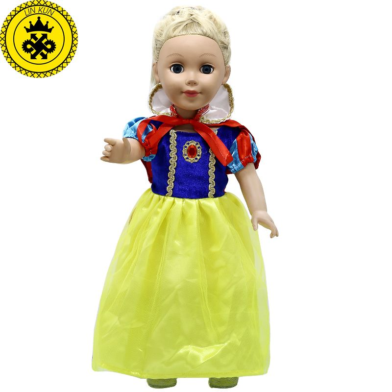 8bcfb77bb Click to Buy    American Girl Doll Clothes Cosplay Snow White Princess Dress
