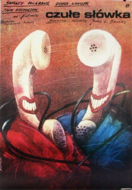Fantastic Polish movie posters of well-known American films | Dangerous Minds. Terms of Endearment by Andrzej Pągowski, 1983.