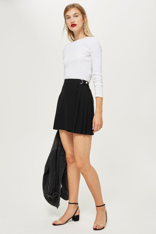New Womens Superdry Billie Cord Skirt Black
