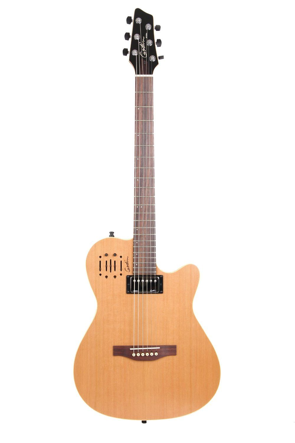 Amazon Com Godin A6 Two Chambered Electro Acoustic Guitar Ultra Natural Musical Instruments Electro Acoustic Guitar Guitar Electric Guitar