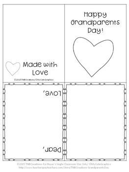 FREE Grandparents Day Card Craft #teachersdaycard FREE Grandparents Day Card Craft by TNBCreations | Teachers Pay Teachers #grandparentsdaycrafts