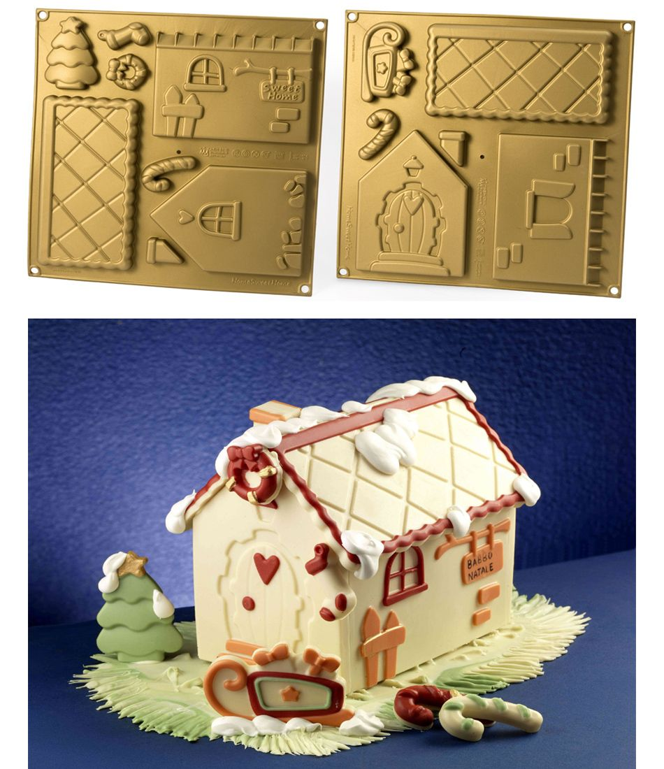 Molde de silicona para elaborar una casita de jengible de chocolate ...
