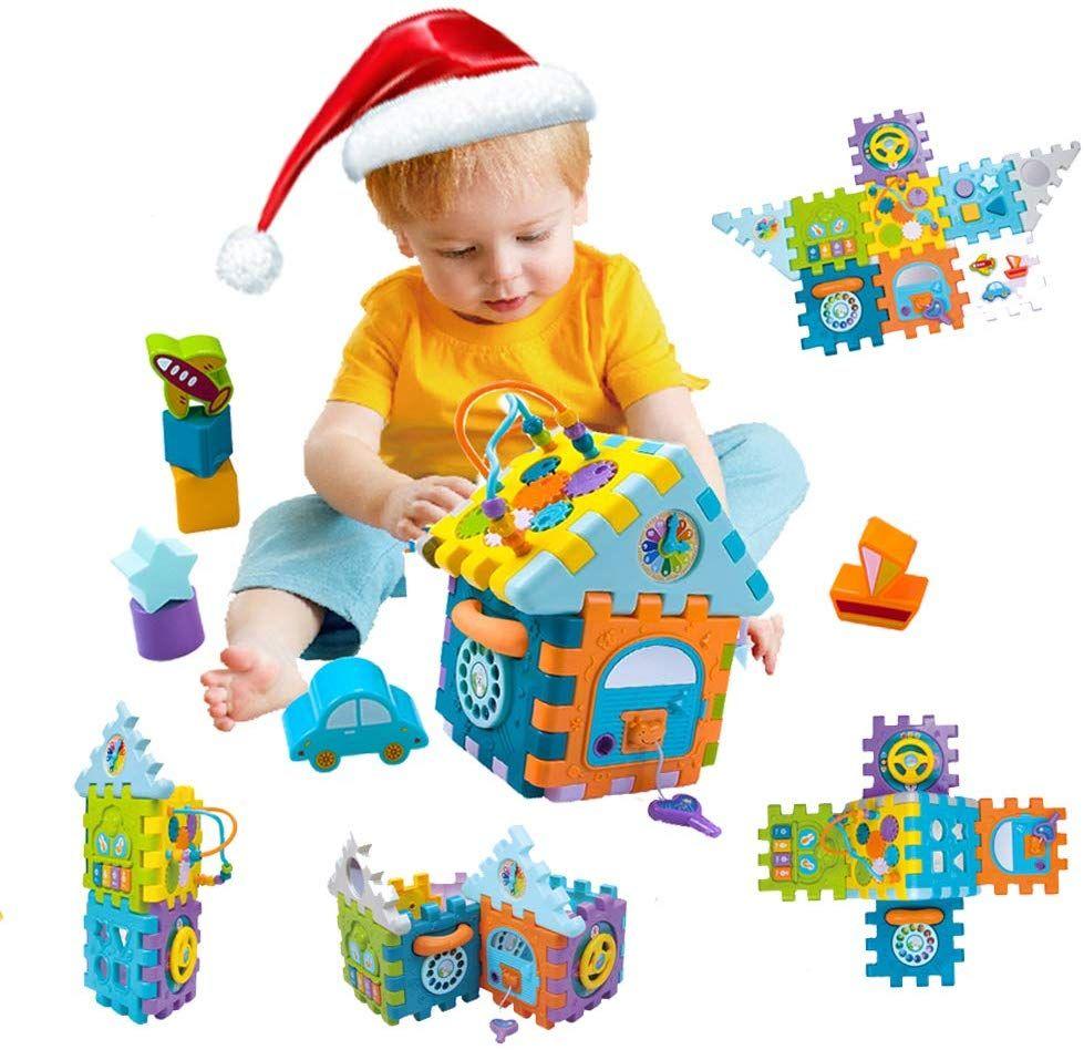 Spielzeug Fur 1 Jahrige 9 In 1 Motorikspielzeug Baby Kleinkindspielzeug Aktivitatszentrum Spielcenter Le Kinder Spielzeug Spielzeug Fur Kleinkinder Kleinkind