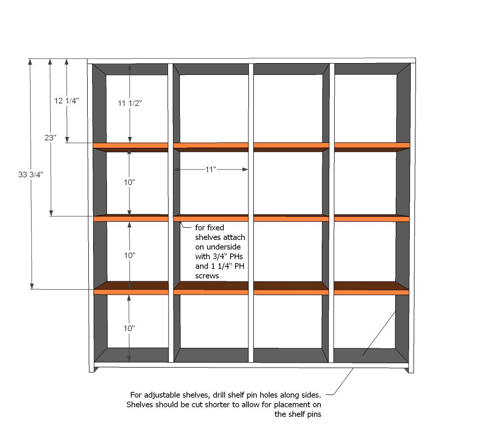 Cube Shelf Plans For The Shelves You Can Either Add Them