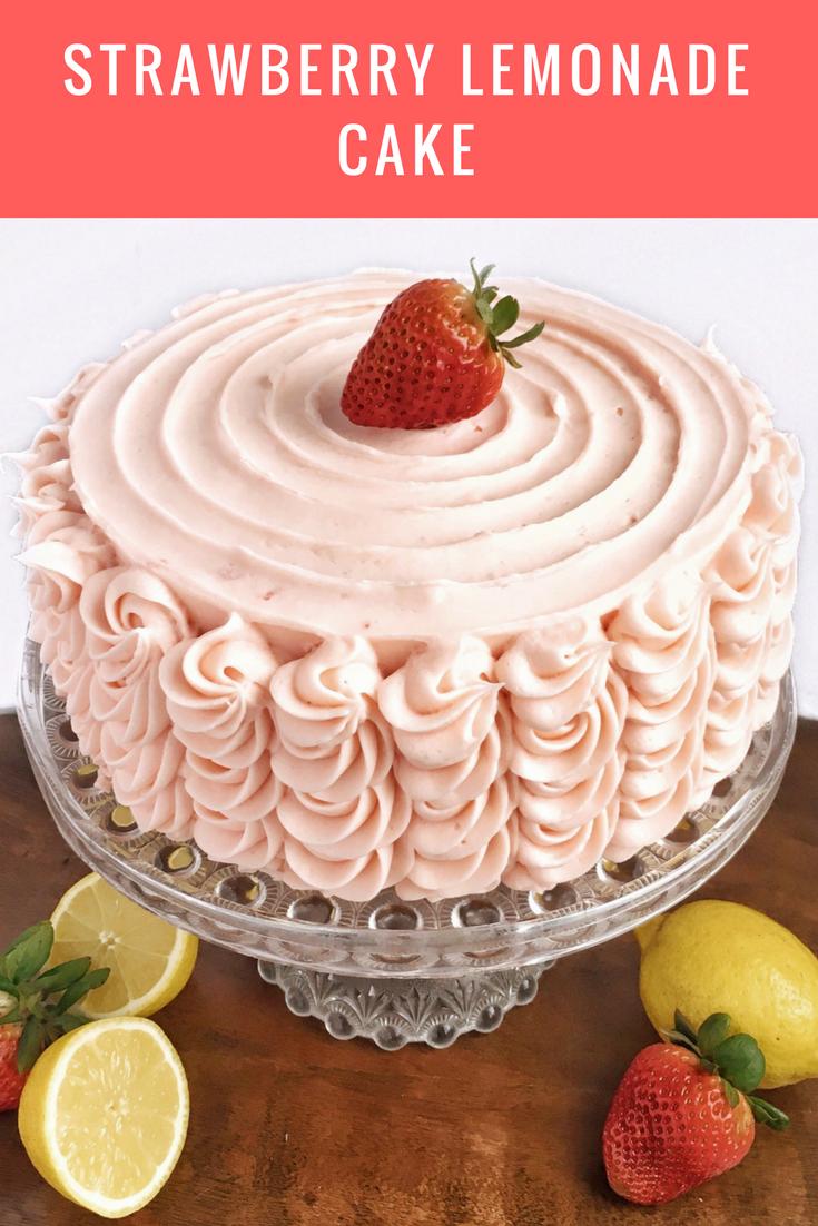 Strawberry Lemonade Cake Recipe Cake Pinterest Cake