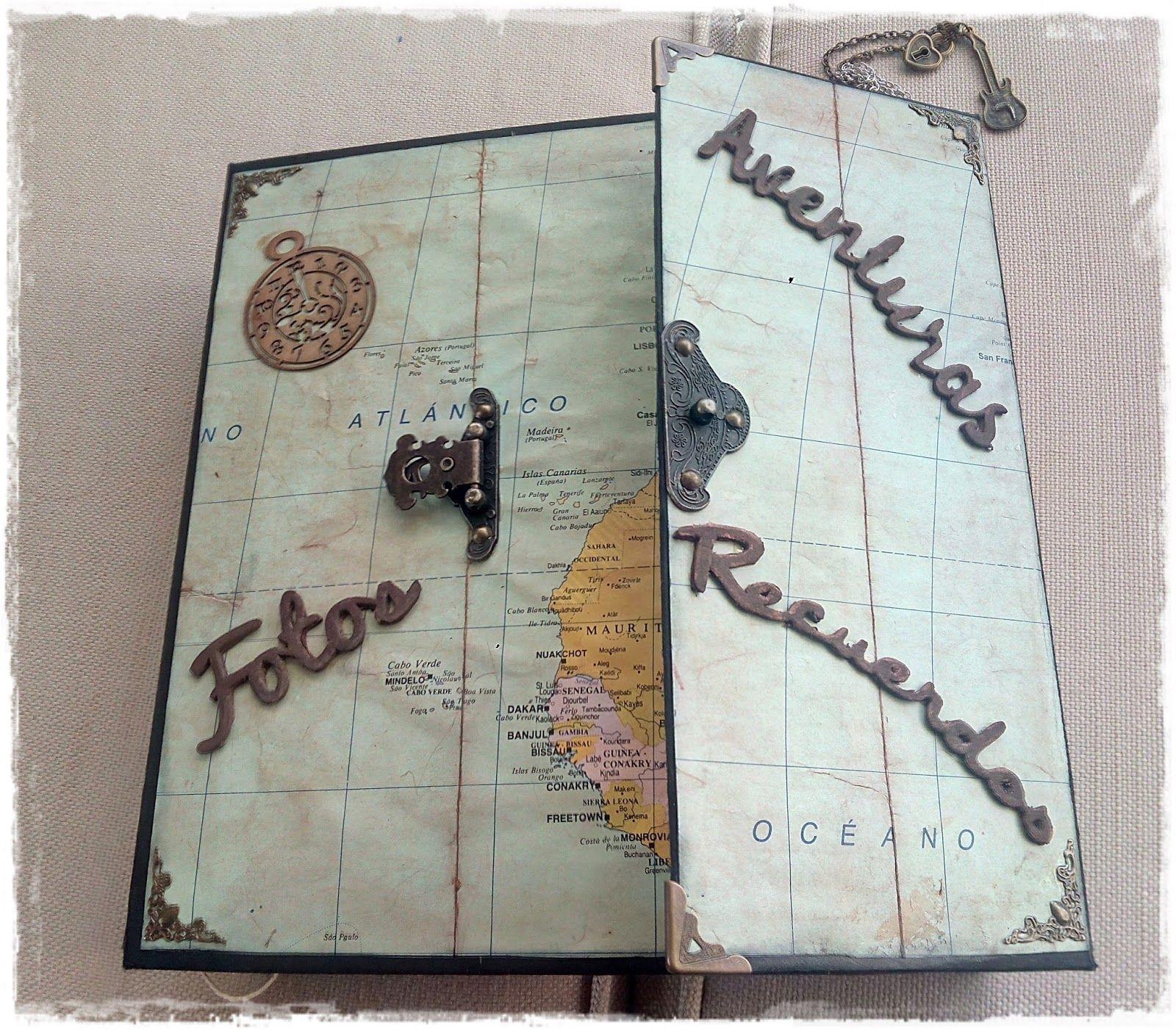 Album album viaje vintage scrapbook scrap fotos for Decoracion de album de fotos