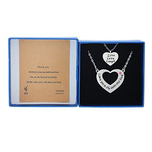 MJartoria I Love You to the Moon and Back One for Mom One for Daughter Necklace Set of 2 Silver Color MJartoria http://www.amazon.com/dp/B013LP2JAY/ref=cm_sw_r_pi_dp_XSimwb0YSXJCV