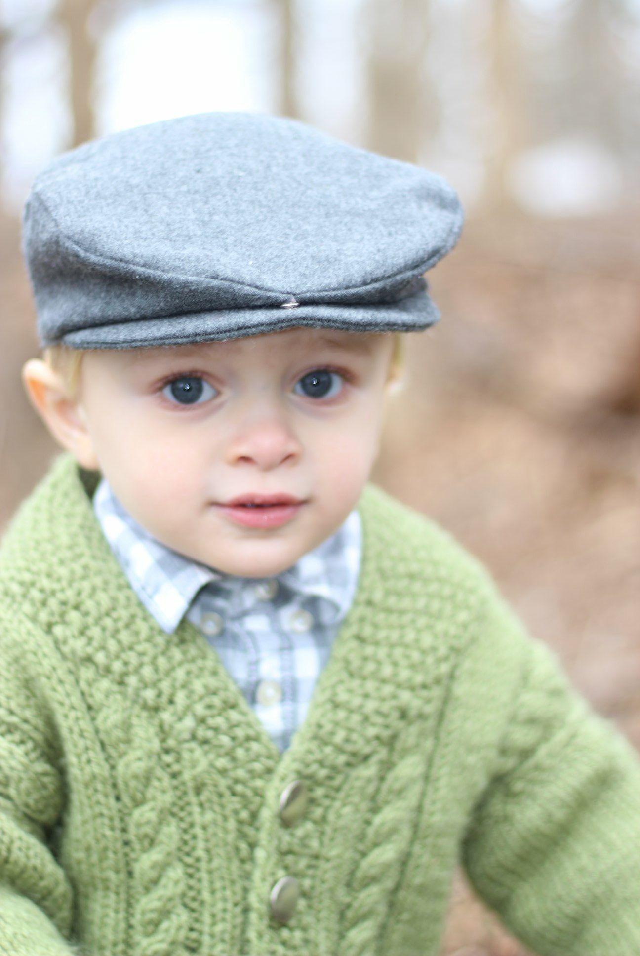 Handmade Scally Cap. Gray wool 2ef207f8250f