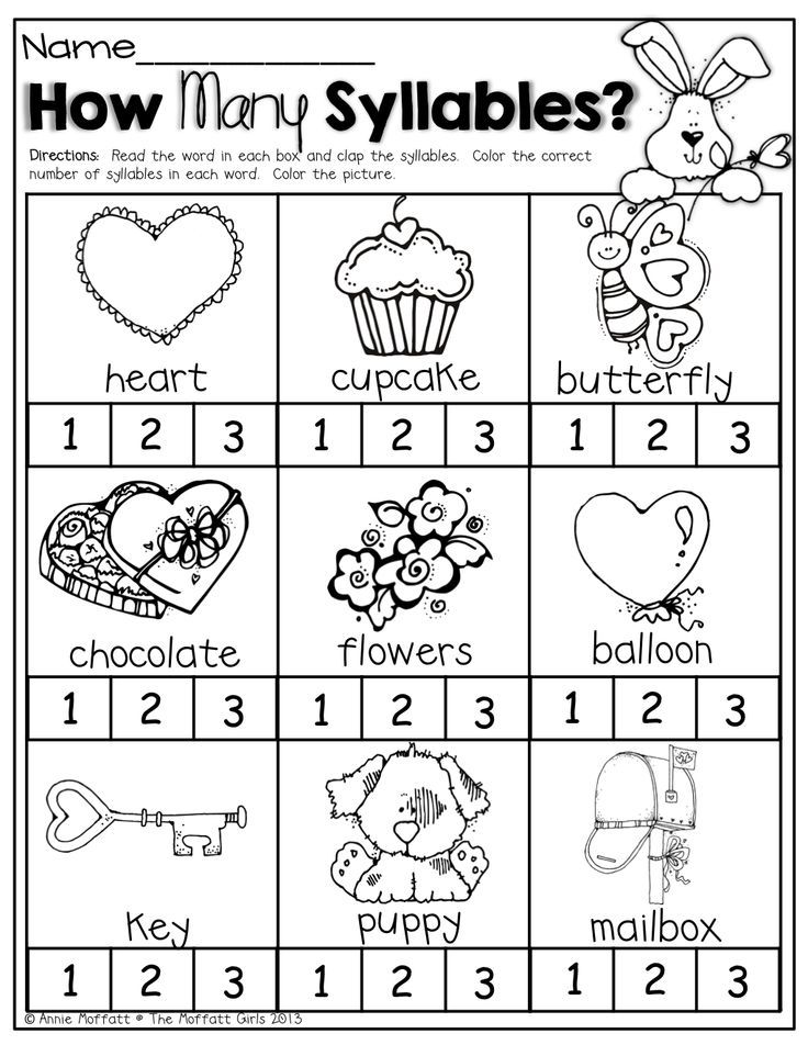 February NO PREP Packet (Kindergarten) | Syllable, Kindergarten and ...