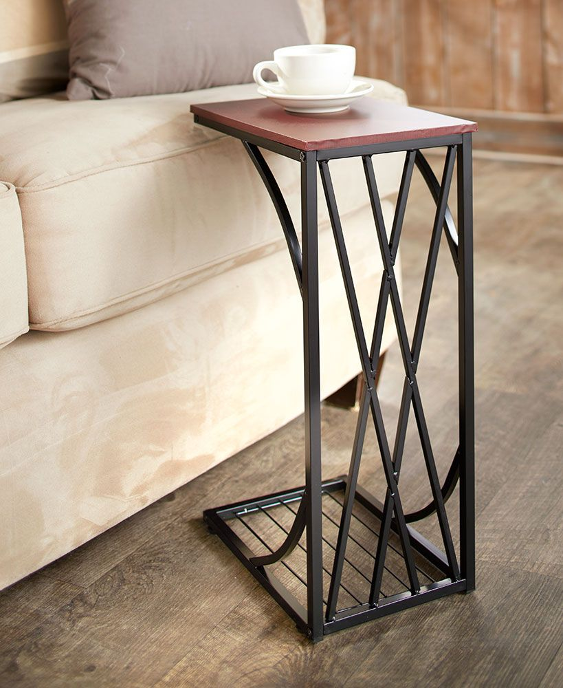 Slim End Tables With Drink Holders In 2019 Great Products