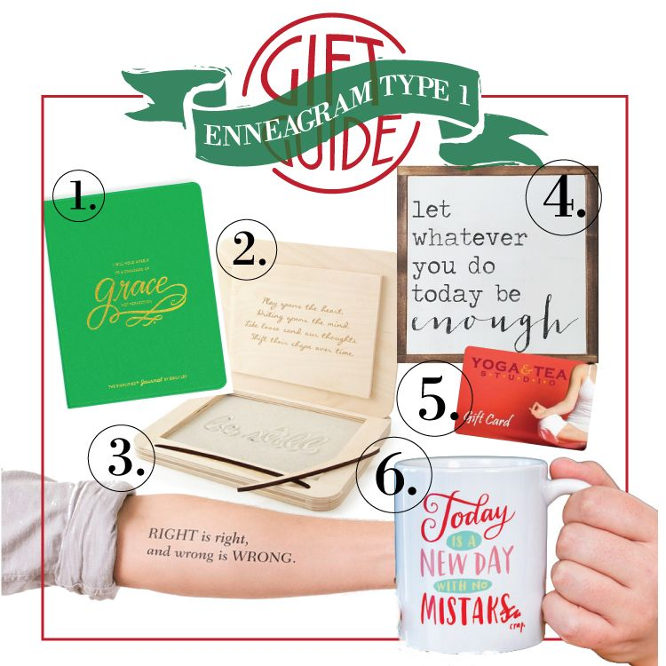 A gift guide for all the enneagram ones in your life gifts include a gift guide for all the enneagram ones in your life gifts include 1 emily ley journal 2 meditation board 3 temporary tatoo 4 canvas quote 5 negle Images