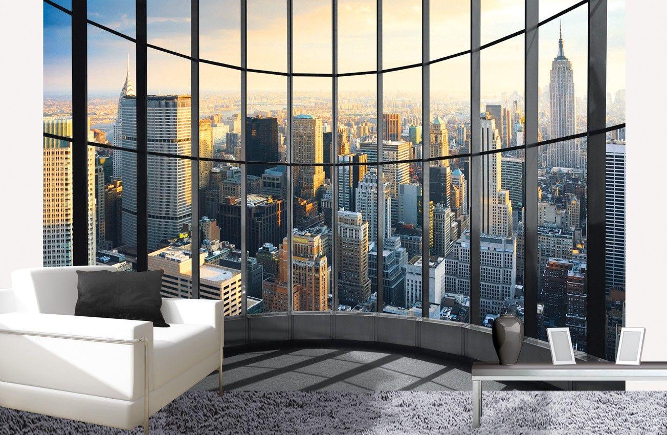Een kantooruitzicht in je kamer met dit fotobehang ny office view