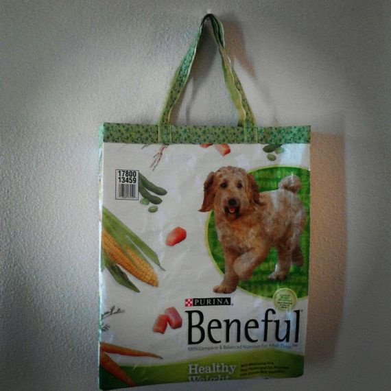Recycled Pet Food Bags Two Totes By Handcraftedbysuzie On Etsy