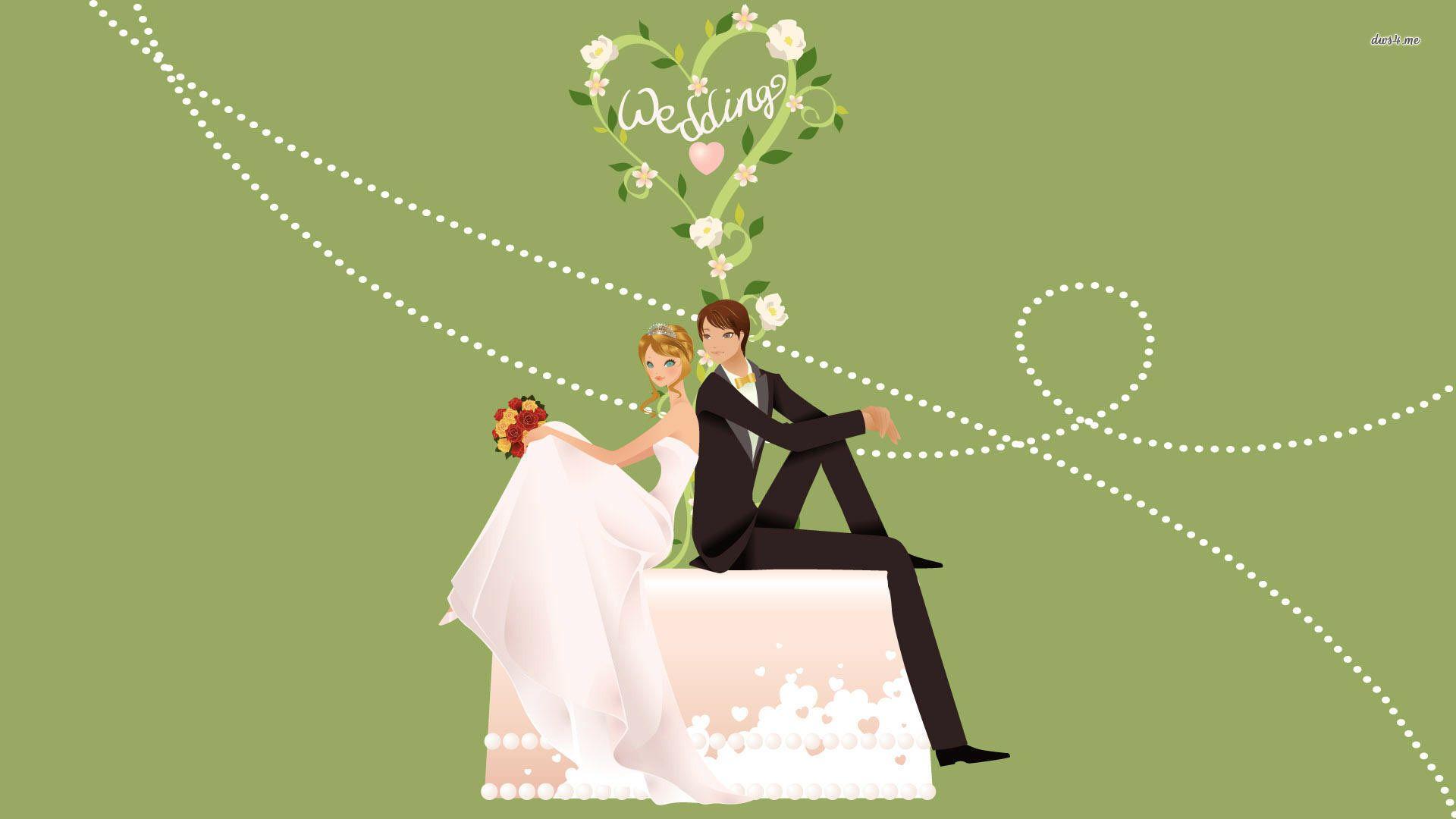 Just Married Couple Hd Wallpaper Man Wallpaper Woman Wallpaper