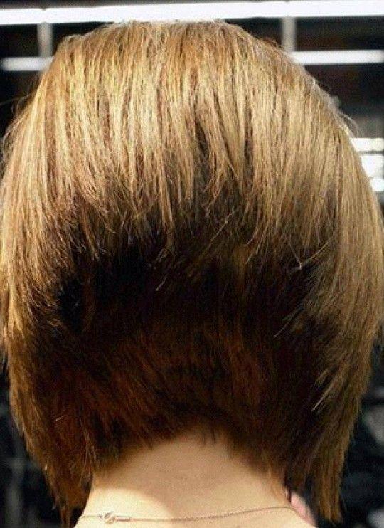 Back View of 45-Degree Short Wedge Bob Haircut | HEALTH 7 ...